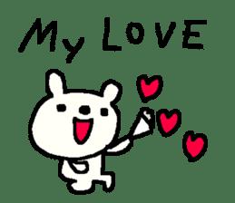 English cute LOVE bear2. sticker #10655446