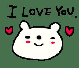 English cute LOVE bear2. sticker #10655448
