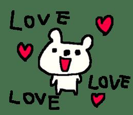 English cute LOVE bear2. sticker #10655452