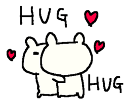 English cute LOVE bear2. sticker #10655453