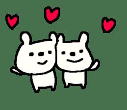 English cute LOVE bear2. sticker #10655455
