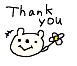 English cute LOVE bear2. sticker #10655457