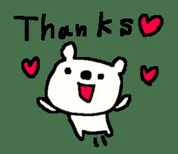 English cute LOVE bear2. sticker #10655458