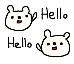 English cute LOVE bear2. sticker #10655462