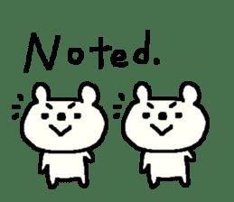 English cute LOVE bear2. sticker #10655467