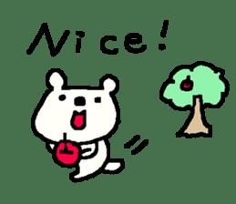 English cute LOVE bear2. sticker #10655468