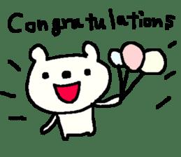 English cute LOVE bear2. sticker #10655474