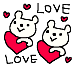 English cute LOVE bear2. sticker #10655477