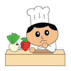 The cute chef