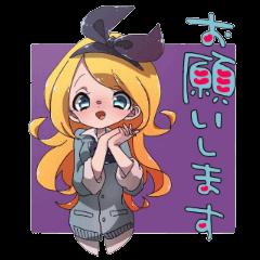 High school girl Alice in Wonderland
