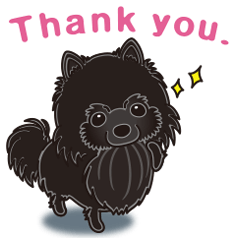 A sticker willingly. Black Pomeranian EV