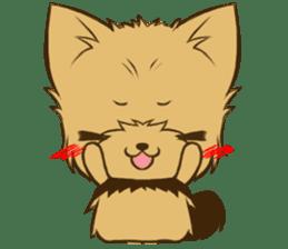 Yorkie tan Yorkshire Terrier sticker #10679747