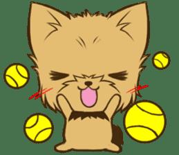 Yorkie tan Yorkshire Terrier sticker #10679755