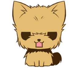 Yorkie tan Yorkshire Terrier sticker #10679773