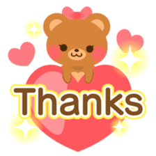 bear-English- sticker #10701075