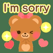bear-English- sticker #10701076