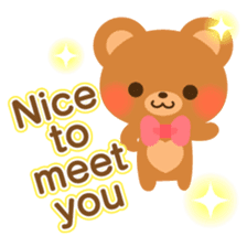 bear-English- sticker #10701082