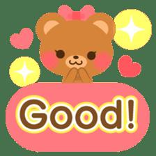 bear-English- sticker #10701083