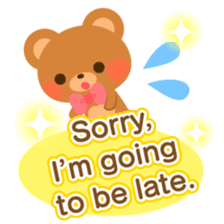 bear-English- sticker #10701090