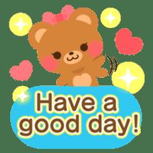 bear-English- sticker #10701092