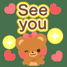 bear-English- sticker #10701094