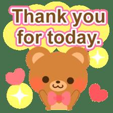 bear-English- sticker #10701095