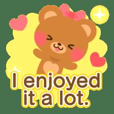 bear-English- sticker #10701096