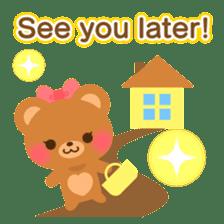 bear-English- sticker #10701101