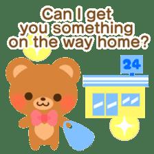 bear-English- sticker #10701107