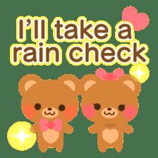 bear-English- sticker #10701109