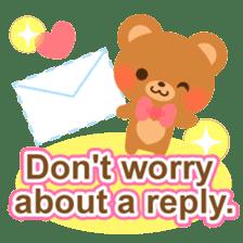 bear-English- sticker #10701110