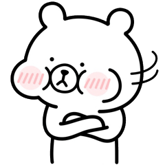 Rabbit and bear sticker. Extra chapter2