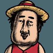 สติ๊กเกอร์ไลน์ ONE PIECE (by Takashi Taniguchi)