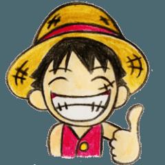 สติ๊กเกอร์ไลน์ ONE PIECE Become Luffy sticker