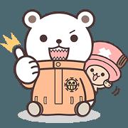 สติ๊กเกอร์ไลน์ ONE PIECE cute animal sticker