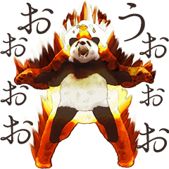 Strange pose Panda 2