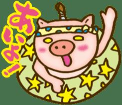 Edo pig Samurai sticker #10712851