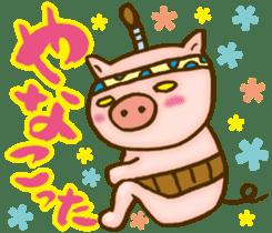 Edo pig Samurai sticker #10712859