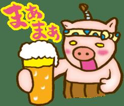 Edo pig Samurai sticker #10712862