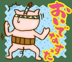 Edo pig Samurai sticker #10712867