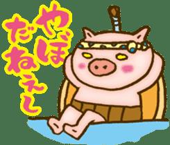 Edo pig Samurai sticker #10712871