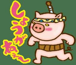 Edo pig Samurai sticker #10712872