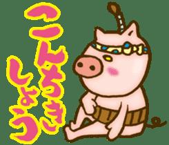 Edo pig Samurai sticker #10712875