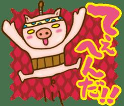 Edo pig Samurai sticker #10712876