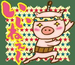 Edo pig Samurai sticker #10712878
