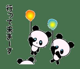 child's giant panda sticker #10715766