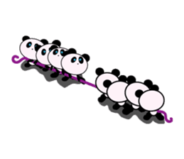 child's giant panda sticker #10715770