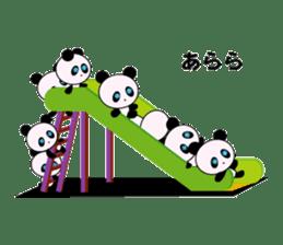 child's giant panda sticker #10715779