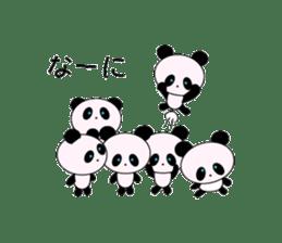 child's giant panda sticker #10715784