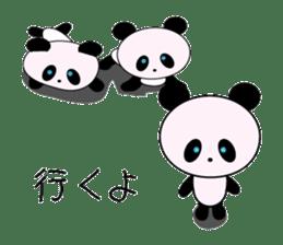 child's giant panda sticker #10715785